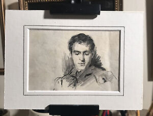 Pencil Sketch of Fellow Artist Willam Miller Frazer by Thomas Bromley Blacklock