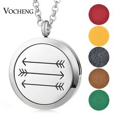 Aromatherapy Diffuser Necklace 316L Stainless Steel Random 5pcs Oil Pads VA-466