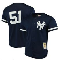 Mitchell and Ness New York Yankees Authentic 1998 Bernie Williams BP Jersey Sz L