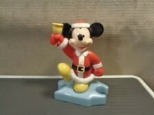 """New listing Mickey Mouse Santa Claus 3"""" Figure w/ Bell Disney Toy 1996 McDonalds (Dis323)"""