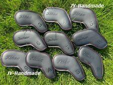 Brand New Titleist Golf Iron set 10 PCS Headcover Black Leather US