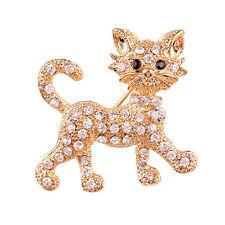 LK _ Damenmode Strass Brosche coole Katze Muster Dekoration Schmuck Geschenk