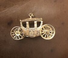 Royal Carriage 9ct Gold Charm Moving Wheels