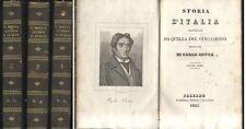 STORIA D ITALIA continuata da quella del Guicciardini - Carlo Botta 3 voll 1835