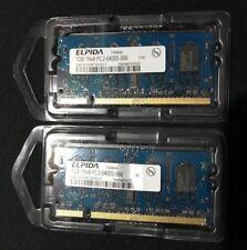 Elpida PC2-6400 (DDR2-800) 2 GB 2X1GB SO-DIMM 800 MHz PC2-6400 Memory.