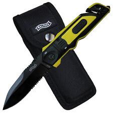 Walther ERK Emergency Rescue Knife coltello soccorso Cinghia Schneider liner lock ASTUCCIO