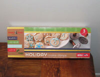 Nordicware Holiday Cookie Stamps Christmas Cookie Stamps Aluminum & Wood NEW!