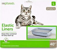"So Phresh Elastic Cat Litter Box Liners Large (40 Counts) (17"" L x 32"" W)"