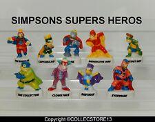 SERIE COMPLETE  DE FEVES LES SIMPSONS SUPERS HEROS