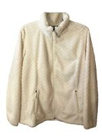 FREE COUNTRY Women's Jacket Chevron Butter Pile Full Zip, 2X-Large, Cream
