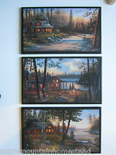 Log Cabin Signs rustic country lodge wall decor plaques hunting fishing picture