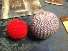 Please help Whinnybank Sanctuary - Hand knitted Large and small catnip balls.