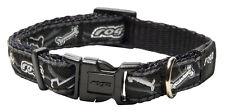 Rogz Side Release Collar Black Bones Dog Collar - Small Medium Large XL