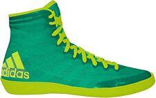 adidas Ussh16030614391 Adizero Varner High Top Wrestling Shoes - 12 D(m) US Flash Lime Yellow