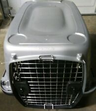 Petmate Inc-Carriers-Fashion Compass Kennel- Met Silver/black 28 In