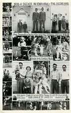 A Decade in Ames Iowa IA, 1931-1941, The Gilkeys Montage, Christmas 1951 RPPC