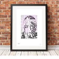 TUPAC Shakur ❤ Rap Hip Hop motivational typography poster art Prints 5 sizes #67