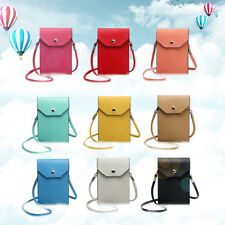 Ladies PU Leather Mobile Phone Bag Cross Body Purse Small Shoulder Bag Colorful
