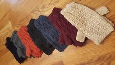 NEW Womens Knit Alpaca Fingerless Gloves Set of 7 Black Grey Maroon Orange Cream