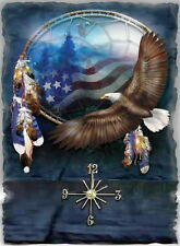 Eagle Dream Catcher wall clock (Grest Man Cave Clock)  Makes gr8 Gifts