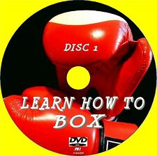 2 DISC SET LEARN HOW TO BOX BASICS SKILLS  DEFENCE COUNTERS TRAINING Etc NEW DVD