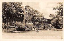 OSKALOOSA IOWA ADMINISTRATION BUILDING PENN COLLEGE REAL PHOTO POSTCARD c1940s