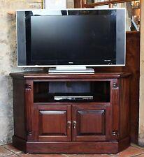 La Roque solid mahogany furniture corner television cabinet stand unit