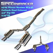 Fits 2004-2006 Nissan Maxima 3.5L Sedan Catback Dual Exhaust T304 Stainless