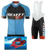 "Top Quality cycling set SCOTT RC PRO BLACK/BLUE 9D GEL PAD ""FAST DELIVERY"""