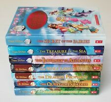 Lot of 7 Geronimo Stilton Thea Stilton Books Hardcover THE VOLCANO OF FIRE