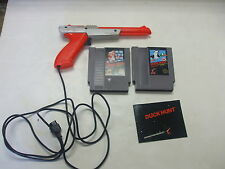 Nintendo Game Lot 2 Games and Zapper Mario, Duck Hunt Tested and Works