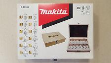 Makita 12-teiliger Fräsersatz, Fräser für Oberfräse Spitzenqualität D-53556