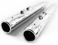 Chrome Slip-on Mufflers Set Exhaust Pipe 1995-2016 Harley Touring Bagger Dresser