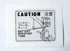 Honda Z50 J1 Z50 JZ Z50 Gorilla MonKey Battery Caution Sticker 87506-130-640 P