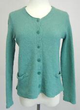 PERUVIAN CONNECTION Womens Cardigan Sweater 100% Baby Alpaca Button Down Green S