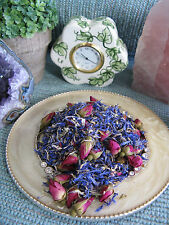 NEW NATURAL DRIED BRIGHT BLUE CORNFLOWER FLOWER PETALS & PETITE MINI ROSE BUDS