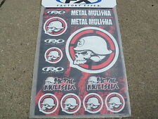 Factory Effex METAL MULISHA  Sticker Sheet Graphics Decals Stickers Die Cut NEW