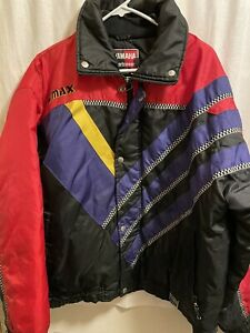 Vintage Yamaha Sportswear Racing Snowmobile Jacket Coat 90s L Large VMAX