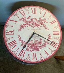 """Timeworks Inc 13"""" Toile Clock Jean Henri Marchand Rue de Saint Gervais Paris"""
