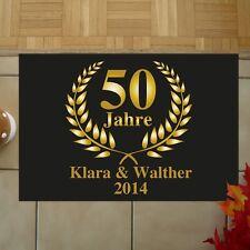 XXL Fußmatte mit Namen - Geschenk Goldene Hochzeit 50 Jahre Hochzeitstag 50x70cm