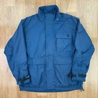 Vintage TIMBERLAND Mens ENTRANT GII Rain Jacket   PERFORMANCE Coat   Large Blue