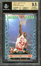 1992 1993 Topps Stadium Club MICHAEL JORDAN BEAM TEAM #1 BGS 9.5 GEM MINT. Bulls