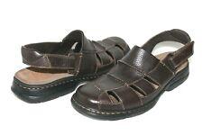 ❤️DUNHAM New Balance Brown Leather Fisherman Comfort Sandal 11 EXCELLENT! L@@K!d