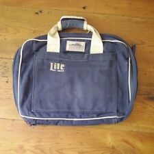 Vintage High Sierra Blue Miller LITE Beer Canvas Laptop Document Travel Bag