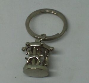Merrry go round with movable horse key ring New