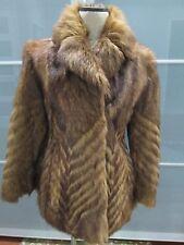 Rive Droite Goat Fur Coat / Jacket Size 8 MINT Condition