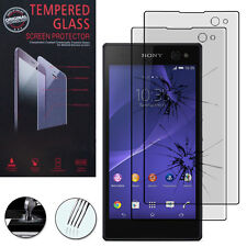 2X Safety Glass for Sony Xperia C3 D2533/Dual D2502 Genuine Screen Protector
