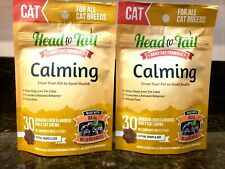 Lot of 2 Head to Tail CALMING Chicken Liver CAT Chew Treats 1.27 oz - FREE SHIP!