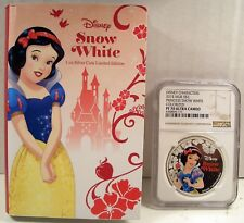 2015 NIUE $2 DISNEY CHARACTERS PRINCESS SNOW WHITE SILVER/COLOR NGC PF 70 UCAM