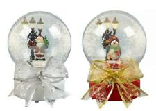 Christmas 19cm Snow Globe with Music and Lights - Choose Design